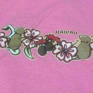Pink T-shirt from Hawaii, Child size Small